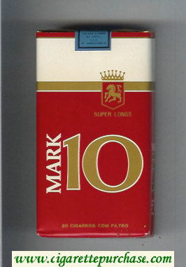 Mark 10 Con Filtro 100s Super Longs cigarettes soft box