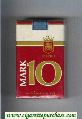 Mark 10 Filtro cigarettes soft box