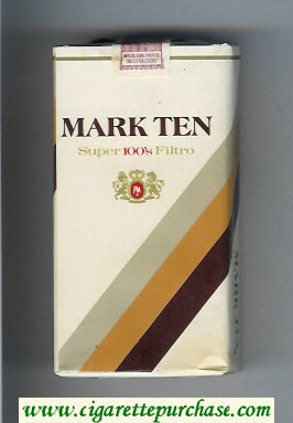 Mark Ten Super 100s Filtro cigarettes soft box