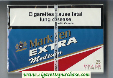 Mark Ten Extra Medium 25 cigarettes wide flat hard box