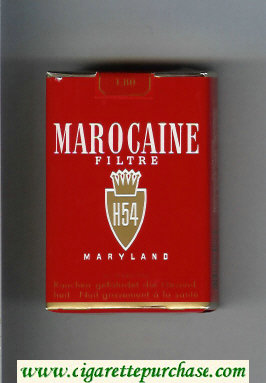Marocaine H54 Filtre Maryland cigarettes soft box