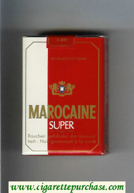 Marocaine Super Aromareiche Tabake cigarettes soft box