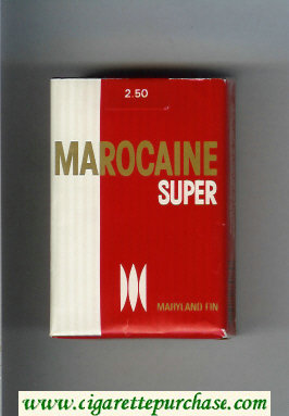 Marocaine Super Maryland Fin cigarettes soft box