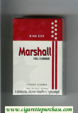 Marshall Full Flavour cigarettes hard box