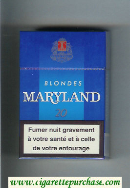Maryland Blondes blue cigarettes hard box