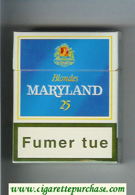 Maryland Blondes 25s Bleues blue and white cigarettes hard box