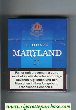 Maryland Blondes 25s Bleues blue cigarettes hard box