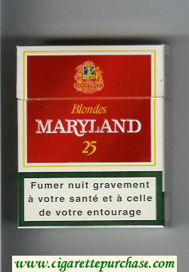 Maryland Blondes 25s Rouges red and white cigarettes hard box
