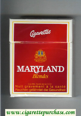 Maryland Blondes 25s red and white cigarettes hard box