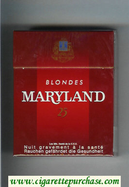 Maryland Blondes 25s red cigarettes hard box