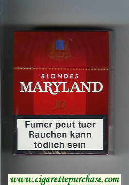 Maryland Blonde 30 red cigarettes hard box