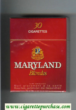 Maryland Blonde 30s red cigarettes hard box