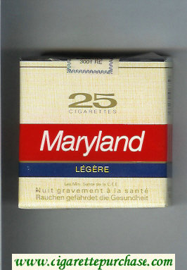Maryland Legere 25 yellow and red and blue cigarettes soft box