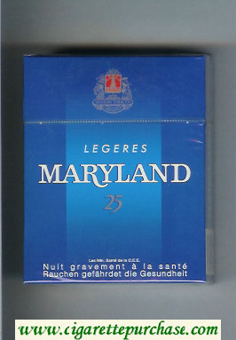 Maryland Legeres 25 blue cigarettes hard box