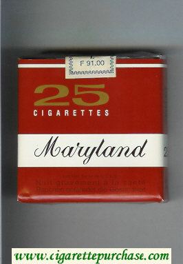 Maryland 25 cigarettes brown and white soft box