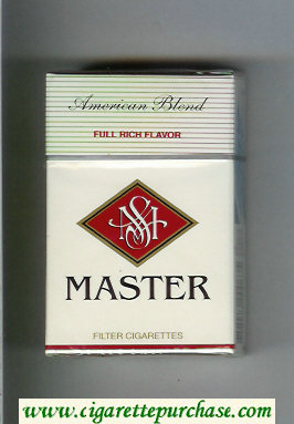 Master American Blend Full Rich Flavor cigarettes hard box