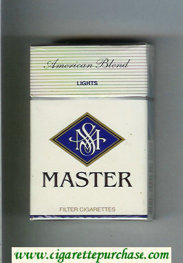 Master American Blend Lights cigarettes hard box