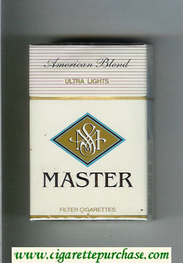 Master American Blend Ultra Lights cigarettes hard box