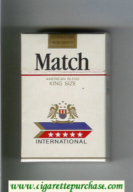 Match International cigarettes hard box