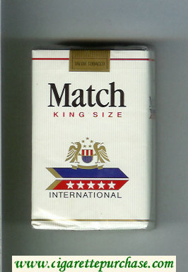 Match International cigarettes soft box