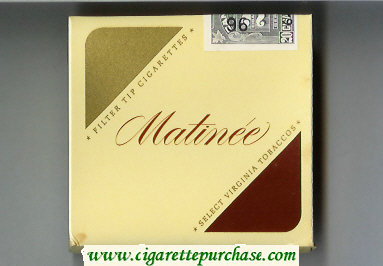 Matinee Filter Tipped Cigarettes Select Virginia Tobaccos cigarettes wide flat hard box