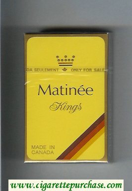 Matinee cigarettes hard box