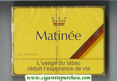 Matinee 25 cigarettes wide flat hard box