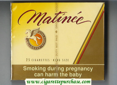 Matinee 25 cigarettes King Size wide flat hard box
