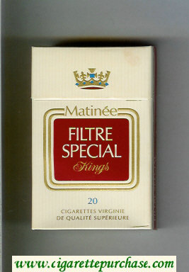 Matinee Special Filter Kings cigarettes hard box