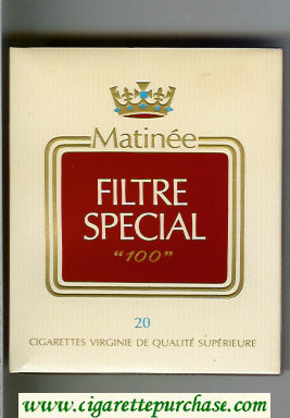 Matinee Special Filter 100 cigarettes wide flat hard box