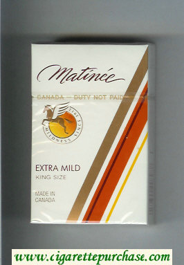 Matinee Extra Mild King Size cigarettes hard box