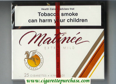 Matinee Extra Mild 25 cigarettes King Size wide flat hard box