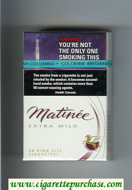 Matinee Extra Mild 20 King Size cigarettes hard box