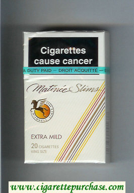 Matinee Slims Extra Mild 20 cigarettes King Size hard box