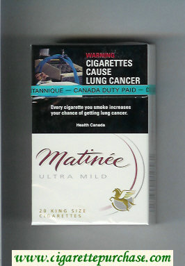 Matinee Ultra Mild cigarettes hard box