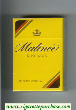 Matinee King Size Selected Virginia cigarettes hard box