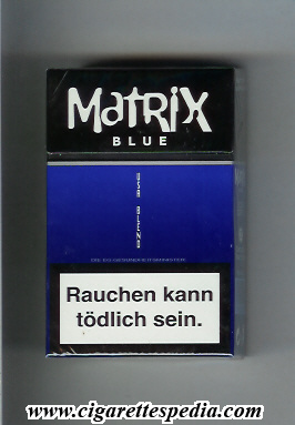 Matrix Blue USA Blend cigarettes hard box