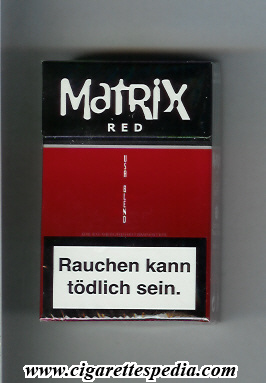 Matrix Red USA Blend cigarettes hard box
