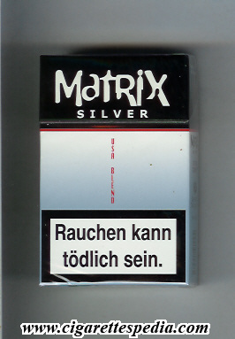 Matrix Silver USA Blend cigarettes hard box