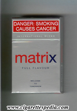 Matrix Full Flavour International Blend cigarettes hard box