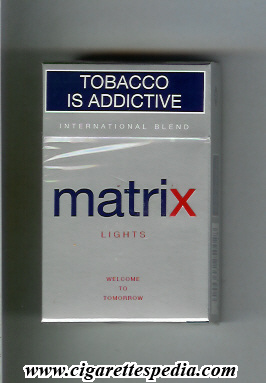 Matrix Lights International Blend cigarettes hard box