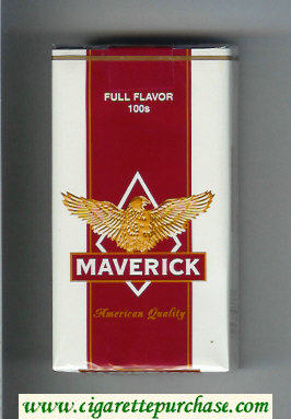 Discount Maverick Full Flavor 100s white and red and yellow cigarettes soft box
