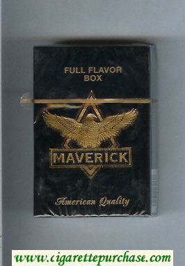 Maverick Full Flavor black and gold cigarettes hard box