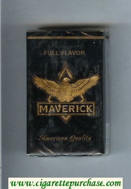 Maverick Full Flavor black and gold cigarettes soft box