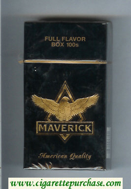 Discount Maverick Full Flavor Box 100s black and gold cigarettes hard box