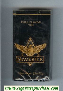 Maverick Full Flavor 100s black and gold cigarettes soft box