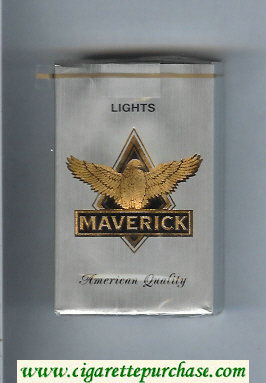 Discount Maverick Lights grey and gold and black cigarettes soft box