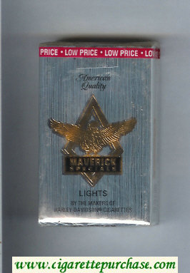 Discount Maverick Specials Lights grey and gold and black cigarettes soft box