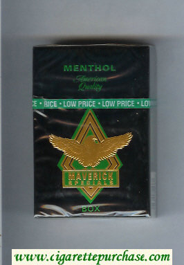 Discount Maverick Specials Menthol black and gold and green cigarettes hard box