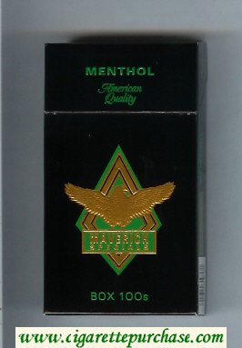 Discount Maverick Specials Menthol Box 100s black and gold and green cigarettes hard box